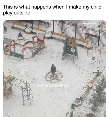 When my Child Plays in the Snow