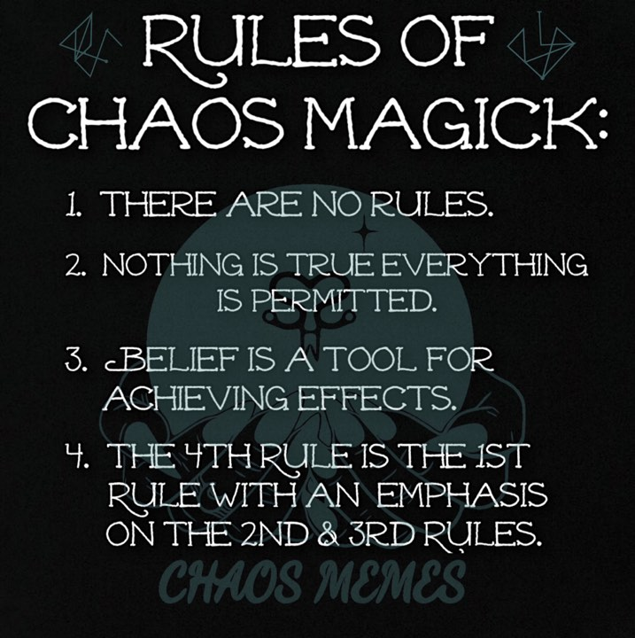 Chaos Magick Rules