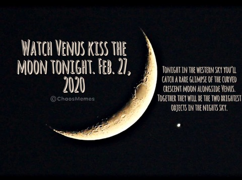 Venus Kisses the Moon Tonight