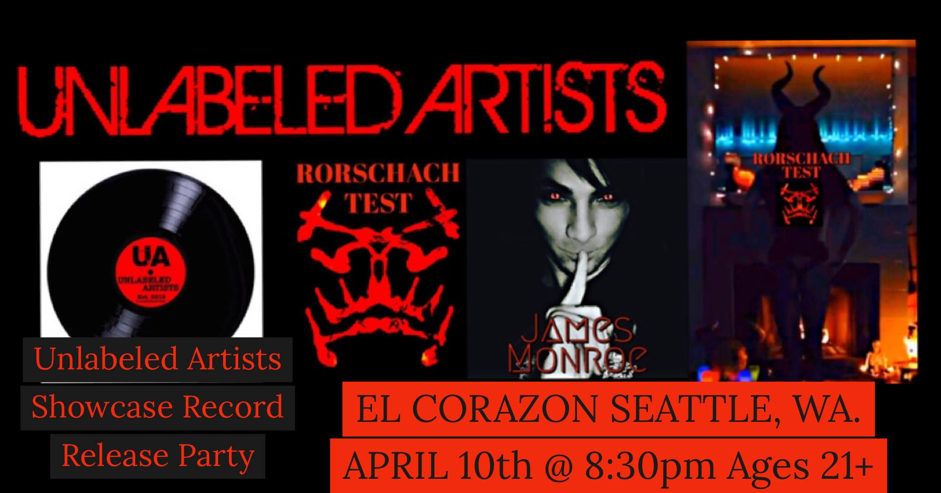 Rorschach Test & James Monroe @ El Corazon Seattle, WA.